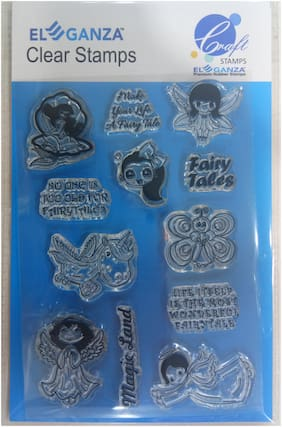 Fairy Tales Rubber stamp craft