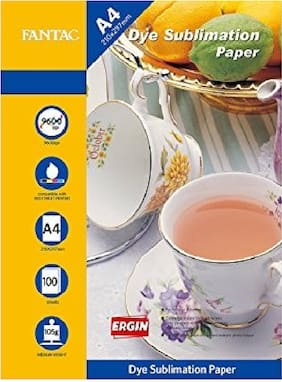 Fantac A4 Matte Coated Dye Sublimation Paper For Mugs, T-Shirts And Mobile Cover ie Printing (100 Sheets)