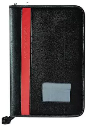 Faux Leatherite Document Portfolio Resume Holder/File/Folder (20 Pockets)-Assorted Strip