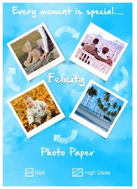 Felicity High Glossy A4 Photo Paper (180 GSM,Pack Of 40)