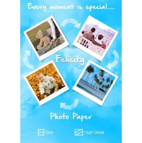 Felicity High Glossy A4 Photo Paper (260 GSM,Pack Of 20)