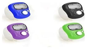 Finger Tally Counter Digital Electronic Counter - Color Assorted (Pack of 4)