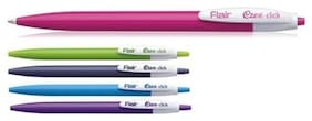 Flair Ezee Click Blue Ball Pen Pack Of 100 Pens