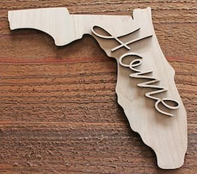 FLORIDA STATE HOME Unfinished Wood Cutout Shapes Ready to Paint Crafts DIY