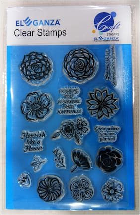 Flowers Rubber stamp craft