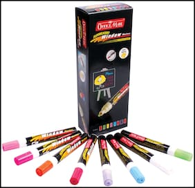 Soni OfficeMate FLUORESCENT WINDOW MARKERS