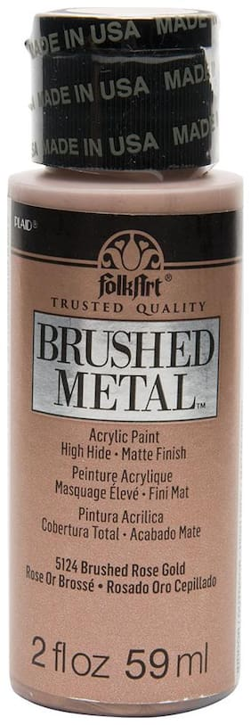 FolkArt Brushed Metallics - Rose Gold 2oz