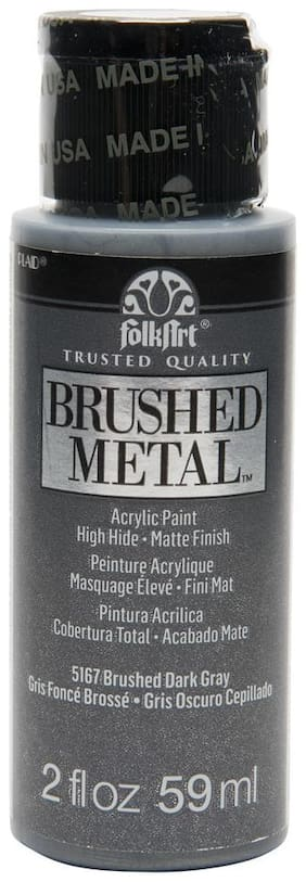 FolkArt Brushed Metallics - Dark Gray 2oz