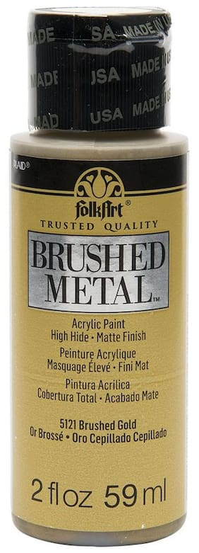 FolkArt Brushed Metallics - Gold 2oz