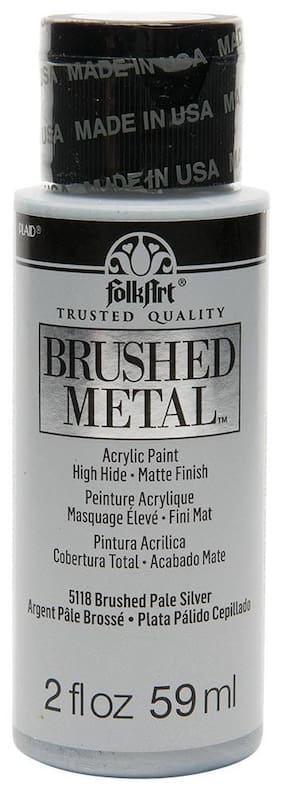 FolkArt Brushed Metallics - Pale Silver 2oz