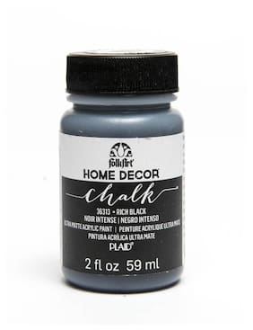 FolkArt Home Decor Chalk Paint - Rich Black 56.69 g (2 oz)