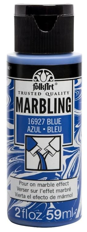 FolkArt Marbling Paint 2oz Blue
