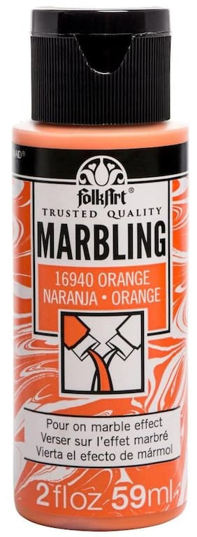 FolkArt Marbling Paint 2oz Orange