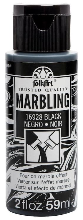 FolkArt Marbling Paint 2oz Black