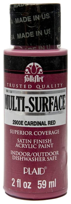 FolkArt Multi Surface Paint - Cardinal Red 56.69 g (2 oz)