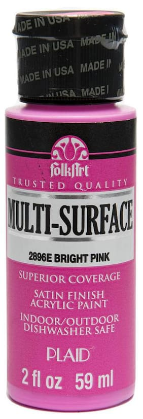 FolkArt Multi Surface Paint - Bright Pink 56.69 g (2 oz)