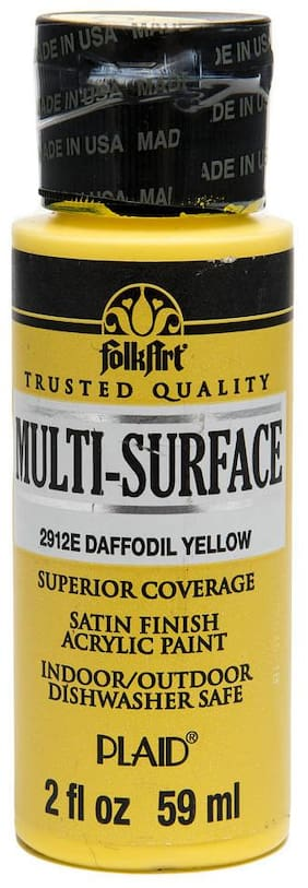 FolkArt Multi Surface Paint - Daffodil Yellow 56.69 g (2 oz)