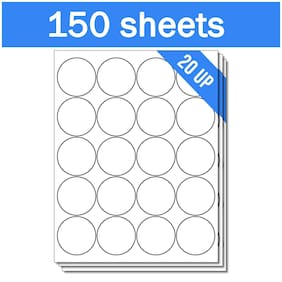"""for Laser & Inkjet Printers Round Circle Dot 2"""" Stickers Labels (3000 Labels)"""