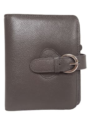 "Franklin Covey Leather""Ava"" Compact Binder, Charcoal"