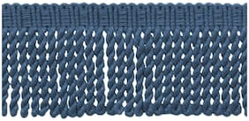 "French Blue|3"" Knitted Bullion Fringe Trim