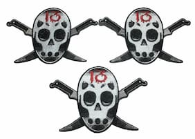 Friday The 13th Jason Mask Knife Embroidered Iron On Patch Set of (3) Patches