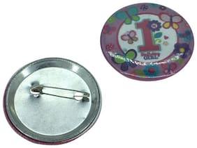 Funcart 1st Birthday Girl Badge
