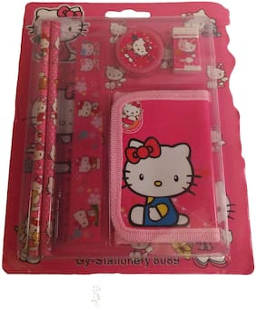 Funcart Hello kitty stationery kit with wallet