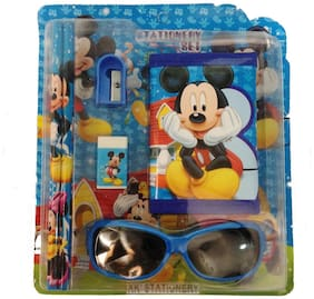 Funcart Mickey Mouse Goggle & Wallet Stationery Set (pack of 6pcs)