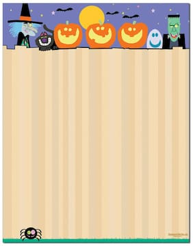 Funny Halloween Letterhead Stationery - 60 Sheets Per stationery Pack - 6525