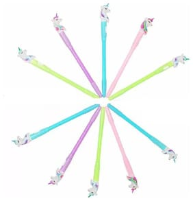 Funy Gel Pens with LED Lights, (Pack of 9) MultiColor