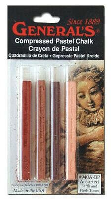 GENERAL PENCIL CO., INC. 940ABP ARTISTS PASTEL CHALK SET EARTH TONES