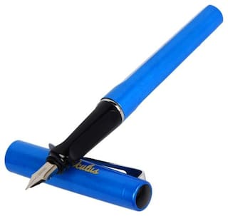 Genuine Oculus  Grip-0425 Rebranded JINHAO soft Blue & Silver Combination, metallic Fountain Pen With Silver Trims. Fitted with Germany Made Components. Presented in Magnetic Auto Closing Gift Box.