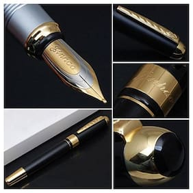 Genuine Oculus Charms-1808 Rebranded Jinhao 250 Black & Golden Combination Metallic Fountain Pen.