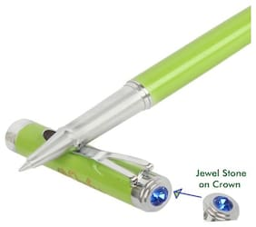 Genuine Oculus  Smooth-1734 Glossy look Soft Green Metallic Ball Pen. Fitted with Germany Made Refill, Presented in Magnetic Auto Closing Gift Box.