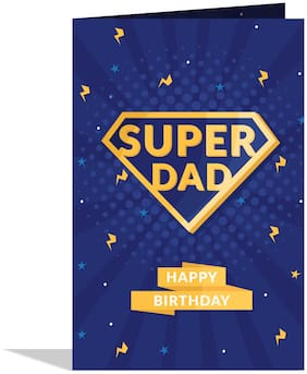 GIFT MY PASSION Super dad happy birthday Greeting Card