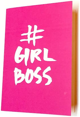 Girl boss pink A5 unruled notebook