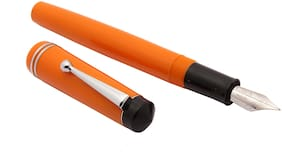 Glare Collection - Diplomate Acrylic Fountain Pen With Flex Nib & 3in1 Ink Filling System Orange New