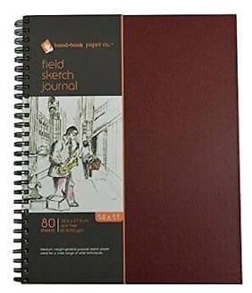GLOBAL ART MATERIAL 790411 HANDBOOK FIELD SERIES 60LB 80 SHEET SKETCH BOOK 14X11