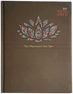 GLOBAL Smart Series '2020' '2 Date a Page' New Year Diary (Size - 20 X 16 cms)(Free - One Desk/Table Calendar)