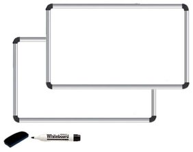 Glowhite Whiteboard Set of 2 With Duster & Marker 60 x 45 cms