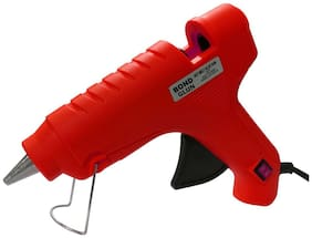 Glun Bond Red glue gun with 8 sticks