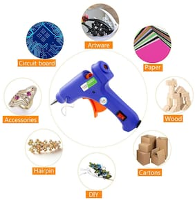 HOT MELT GLUE GUN 20W 20 WATT WITH ON OFF SWITCH AND LED INDICATOR