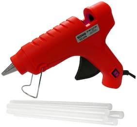 Glun Bond Red 40 Watt Hot Melt Glue Gun With On Off Switch Indicator And Leak proof Technology Free 5 Transparent Glue Sticks
