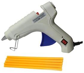 Glun Bond White 40 Watt Hot Melt Glue Gun With On Off Switch Indicator And Leak proof Technology Free 5 Yellow Glue Sticks