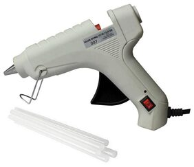 Glun Bond White 40 Watt Hot Melt Glue Gun With On Off Switch Indicator And Leak proof Technology Free 8 Transparent Glue Sticks