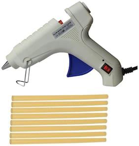 Glun Bond White 40 Watt Hot Melt Glue Gun With On Off Switch Indicator And Leak proof Technology Free 8 Yellow Glue Sticks