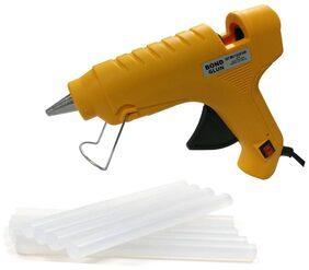 Glun Bond Yellow 40 Watt Hot Melt Glue Gun With On Off Switch Indicator And Leak proof Technology Free 8 Transparent Glue Sticks