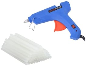 GLUN CAMEL BLUE 80W 80 WATT HOT MELT GLUE GUN WITH 20 GLUE STICKS