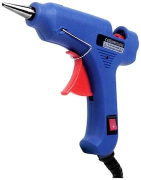Glun levi 20watt mini glue gun with 5 sticks(bllue)