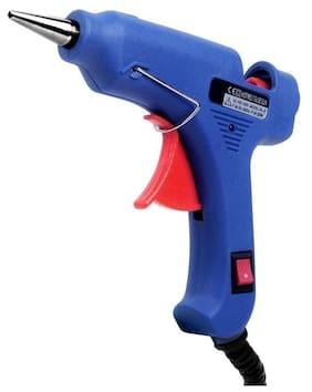 Glun levi 20watt mini glue gun with 5 sticks(bllue)